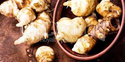Raw Jerusalem artichokes