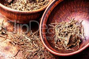 Roots and rhizomes Valerian officinalis