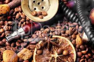 eastern hookah with coffee tobacco