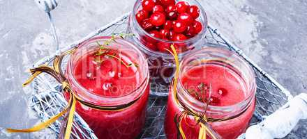 Health smoothie with cranberries