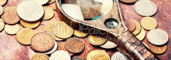 Old coins, numismatics