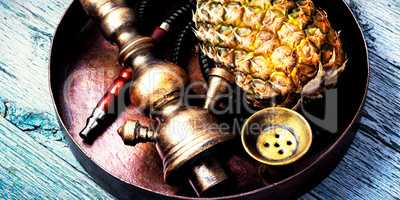 Shisha hookah with pineapple