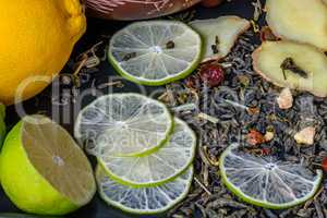recipe for a tea beverage with lime and ginger