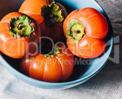 Blue Bowl with Persimmons