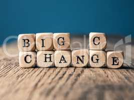 Big change and big chance