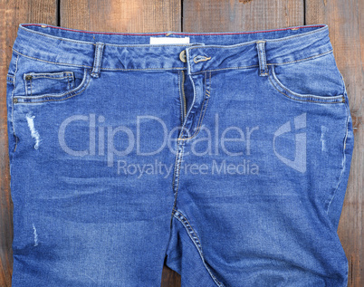 blue classic jeans with scuffs