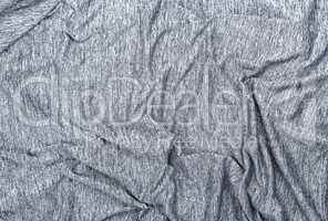 texture of crumpled gray mottled synthetic fabric