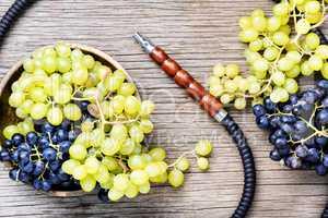 Modern shisha with grapes