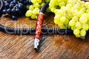 Oriental shisha with grapes