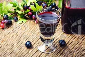 Homemade berry alcohol drink