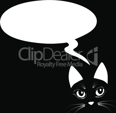 Animal cat head think bubble Icon vector illustration