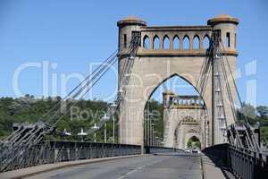 Brücke bei Langeais, Frankreich