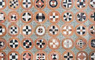 geometric pattern of mosaic stones