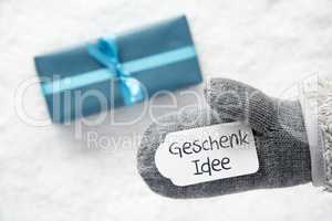Turquoise Gift, Glove, Geschenk Idee Means Gift Idea