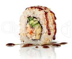 Closeup sushi roll california