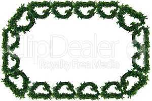 Ivy vines border frame