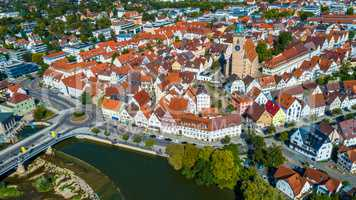 aerial of the city Nuertingen