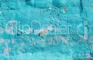 Turquoise peeling paint