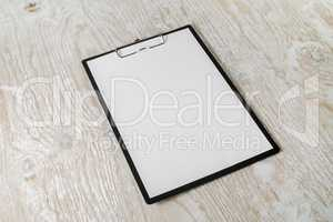 Paper clipboard with letterhead
