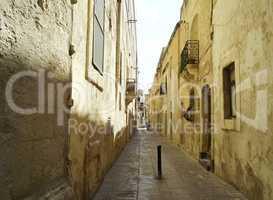 Empty alley in Rabat