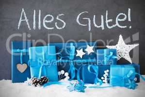 Christmas Gifts, Snow, Alles Gute Means Best Wishes