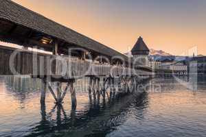 Lucerne. Image of Lucerne, Switzerland during twilight blue hour