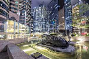 Central District of Hong Kong at Night