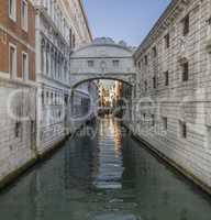 Bridge of Sighs, Ponte dei Sospiri in Venezia, Venice Italy