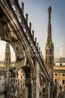 Gothic Structure of Duomo Di Milano, Italy