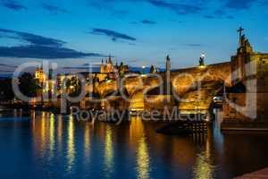Illuminated Charles Bridge