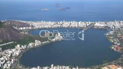 Aerial View Of Rodrigo De Freitas Lake In Rio De Janeiro, Brazil