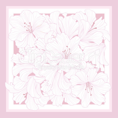 Floral pattern decor for silk tiussiue. Flower background