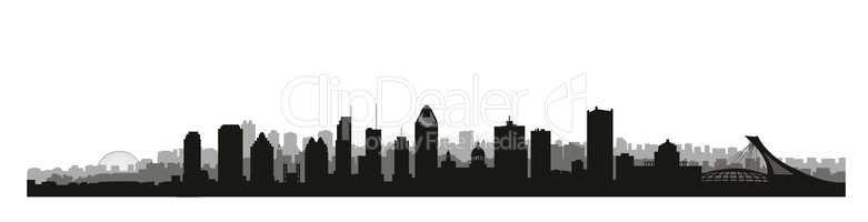 Montreal city, Canada skyline. Canadian landmarks. Urban archite