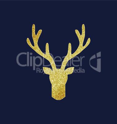 Deer antlers, gold texture