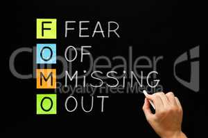 FOMO - Fear Of Missing Out Concept