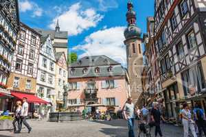 Historical Cochem town center in Germany