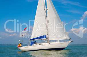 Sailing Boat Yacht at Sea