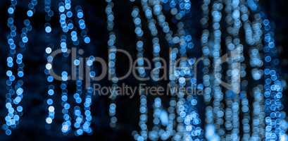abstract blurred background with round blue  bokeh