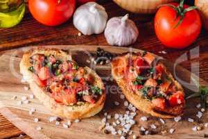 Classic Italian Bruschetta with Tomatoes