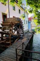 Prague wooden water mill
