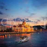 Hungarian Parliament on Danube