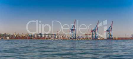 Container Terminal of Cargo Port in Odessa, Ukraine