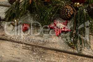 Christmas ornament on a wooden table