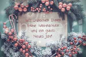 Christmas Garland, Gutes Neues Jahr Means Happy New Year