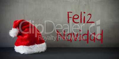 Santa Hat, Feliz Navidad Means Merry Christmas