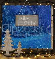 Window, Winter Forest, Alles Gute Means Best Wishes