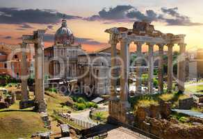 Morning on Roman Forum