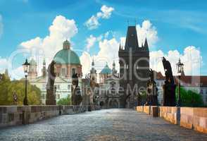 Morning over Charles Bridge