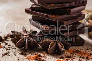 Chocolate with Anise Star