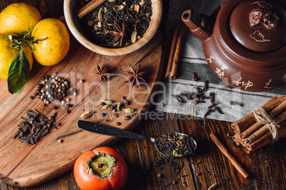 Ingredients for Masala Chai